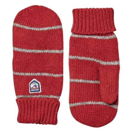Hestra Striped Wool Mittens (For Men) in Red/Grey - Closeouts