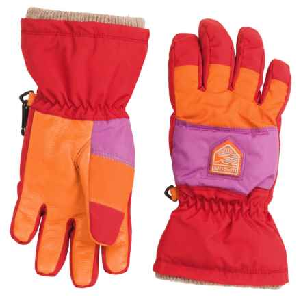 Hestra Swisswool Merino Loft Jr. Gloves - Waterproof, Insulated (For Little and Big Kids) in Light Red/Cerise - Closeouts