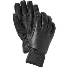 Hestra Touch Point Leather Gloves - Waterproof, Insulated, Touchscreen Compatible (For Men and Women) in Black - Closeouts