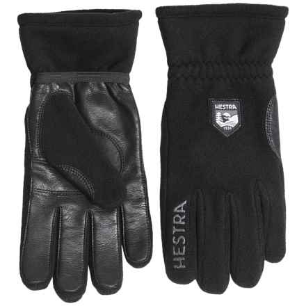 Hestra Town & Country Gloves (For Men) in Black/Black - Closeouts