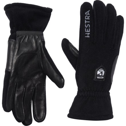 2300e6d3b Hestra Town and Country Gloves - Leather (For Men) in Black/Black -