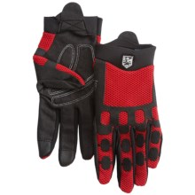 Hestra Trailer Cycling Gloves (For Men and Women) in Black/Red - Closeouts