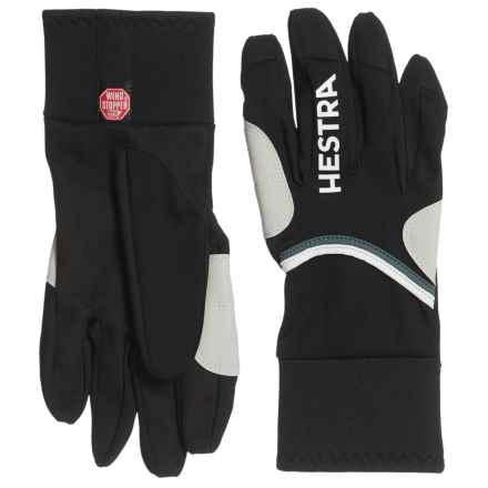 Hestra Windstopper® Action Race-Cut Gloves (For Men) in Black - Closeouts