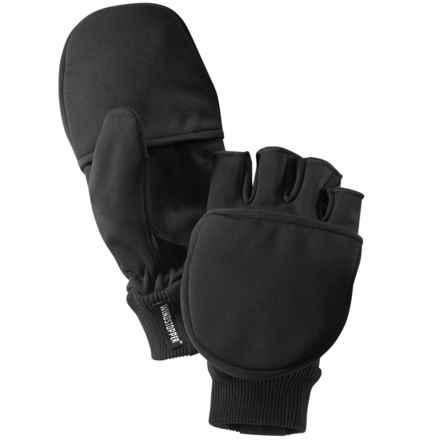 Hestra Windstopper® Mittens - Waterproof, Fleece Lined (For Men and Women) in Black - Closeouts