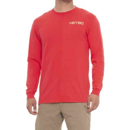 Heybo Decoys Shirt - Long Sleeve (For Men and Big Men) in Salmon - Closeouts