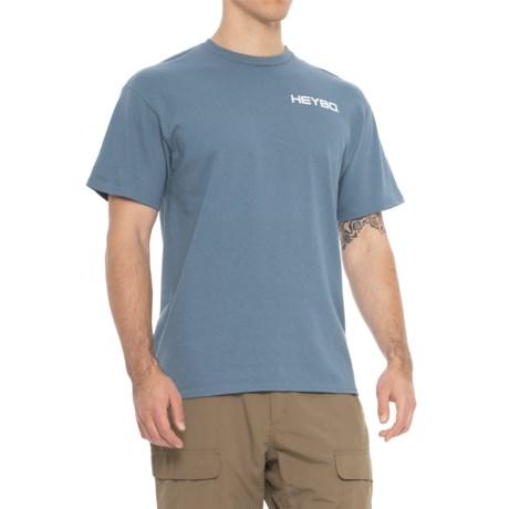 Heybo Deer Collage Shirt - Short Sleeve (For Men and Big Men) in Slate Blue