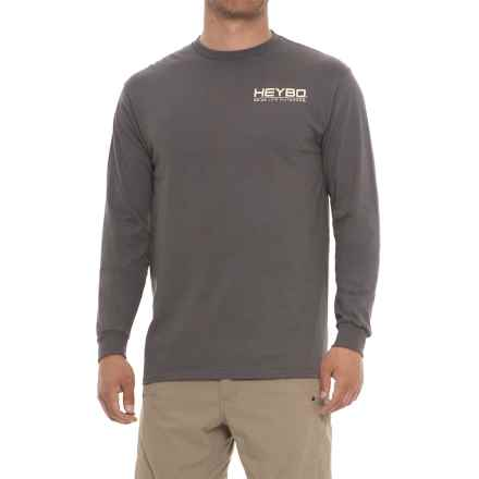 Heybo Foots T-Shirt - Long Sleeve (For Men) in Charcoal - Closeouts