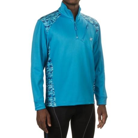 Heybo Gaffer Fleece Shirt - Zip Neck, Long Sleeve (For Men and Big Men) in Blue/Aquaflage