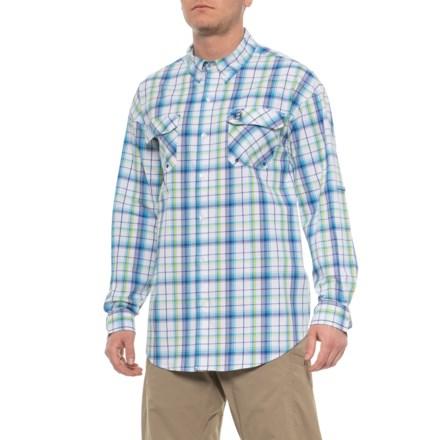 0ccdd5165 Heybo Hatteras Guide Shirt - Long Sleeve (For Men) in Green/Navy -