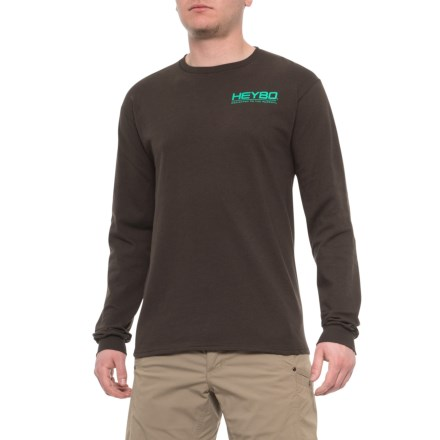 d98b3b1f2 Heybo Maggie in Blind T-Shirt - Long Sleeve (For Men) in Chocolate