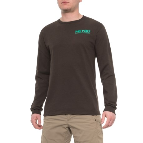 7f5f5d672 Heybo Maggie in Blind T-Shirt - Long Sleeve (For Men) in Chocolate