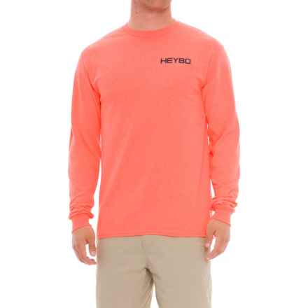 Heybo Tailwalker T-Shirt - Long Sleeve (For Men and Big Men) in Coral - Closeouts