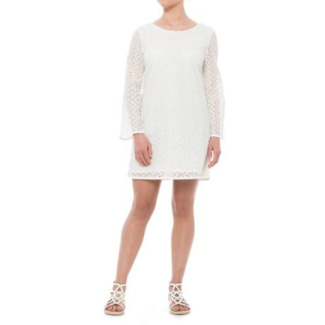 Heyton Cotton Eyelet Dress - Long Sleeve (For Women) in White