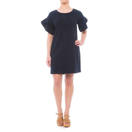 Heyton Slub-Knit Dress - Scoop Neck, Short Sleeve (For Women) in Navy Seas
