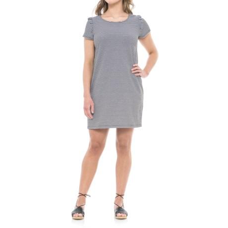 Heyton Striped T-Shirt Dress - Short Sleeve (For Women) in Black/White