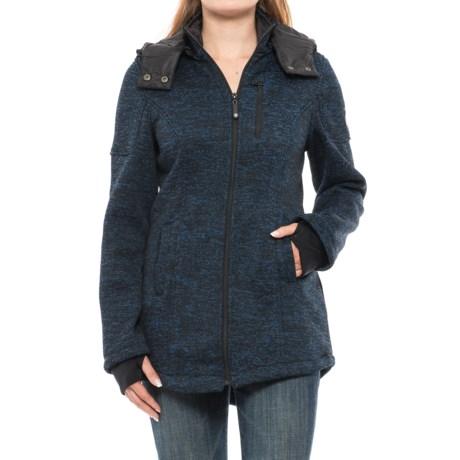 HFX Fleece-Lined Sweater - Zip-Off Hood (For Women)