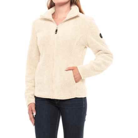 HFX Sherpa Fleece Jacket - Full Zip (For Women) in Off White - Closeouts