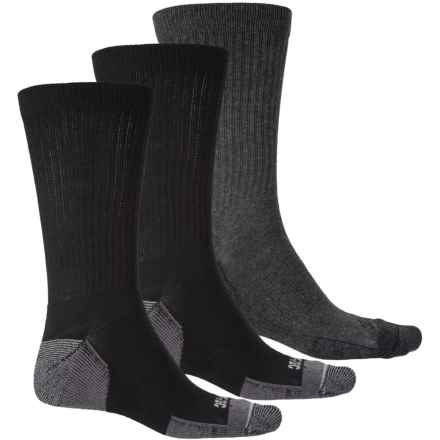 "Hi-Tec 9"" Crew Socks - 3-Pack (For Men) in Black/Charcoal - Closeouts"