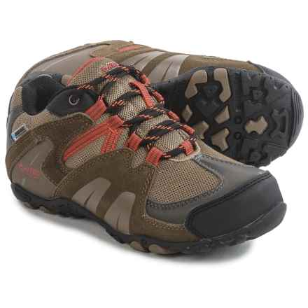 Hi-Tec Aitana Low Hiking Shoes - Waterproof (For Little Kids) in Smokey Brown/Taupe/Red Rock - Closeouts