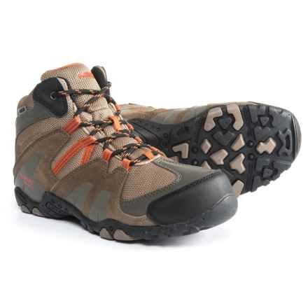Hi-Tec Aitana Mid Boots - Waterproof (For Boys) in Smoke Brown/Taupe/Red Rock - Closeouts