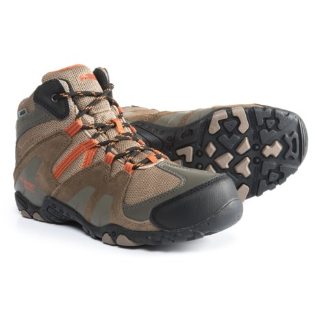 Hi-Tec Aitana Mid Boots - Waterproof (For Boys) in Smoke Brown/Taupe/Red Rock