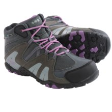 Hi-Tec Aitana Mid Hiking Boots - Waterproof, Suede (For Big Kids) in Charcoal/Grey/Orchid - Closeouts