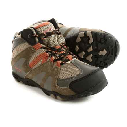Hi-Tec Aitana Mid Hiking Boots - Waterproof, Suede (For Little Kids) in Smokey Brown/Taupe/Red Rock - Closeouts