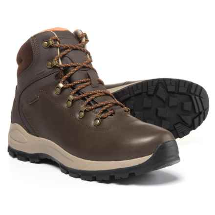 Hi-Tec Alpyna Mid Leather Hiking Boots - Waterproof (For Men) in Chocolate/Burnt Orange - Closeouts