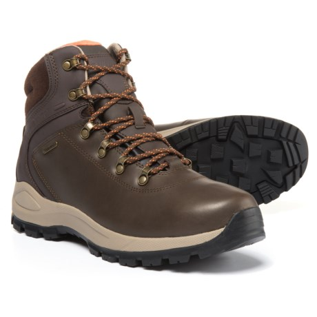 Hi-Tec Alpyna Mid Leather Hiking Boots - Waterproof (For Men) in Chocolate/Burnt Orange