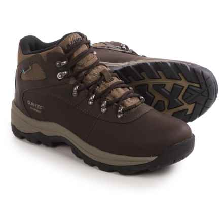 Hi-Tec Altitude Base Camp Hiking Boots - Waterproof (For Men) in Dark Chocolate - Closeouts