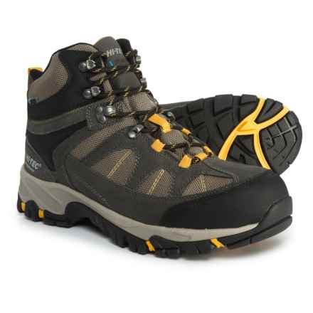 Hi-Tec Altitude Lite I Hiking Boots - Waterproof (For Boys) in Charcoal/Warm Grey/Gold - Closeouts