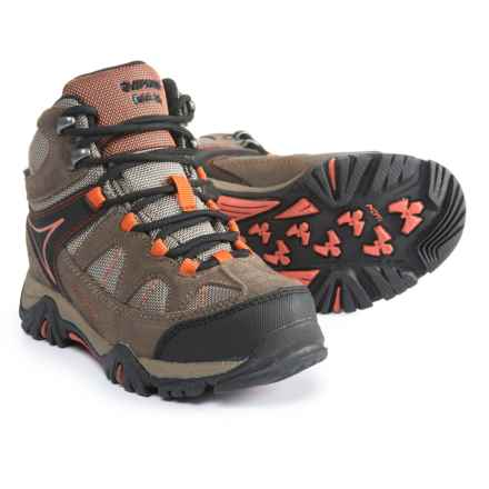 Hi-Tec Altitude Lite I Hiking Boots - Waterproof (For Boys) in Smoke Brown/Taupe/Red Rock - Closeouts