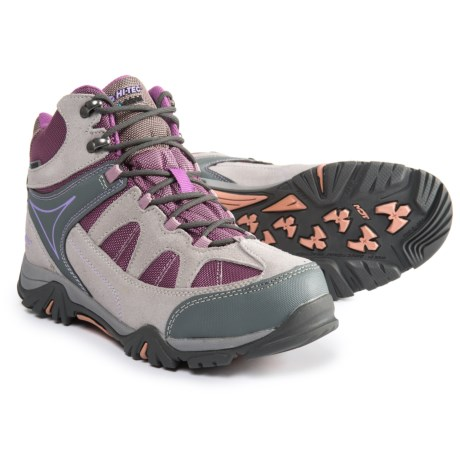 Hi-Tec Altitude Lite I Hiking Boots - Waterproof (For Girls) in Grey/Orchid/Horizon