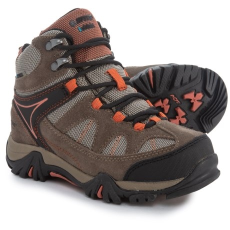 Hi-Tec Altitude Lite I Hiking Boots - Waterproof (For Little and Big Kids) in Smoke Brown/Taupe/Red Rock