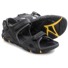 Hi-Tec Altitude Lite Strap Sandals (For Men) in Black/Charcoal/Sunray - Closeouts
