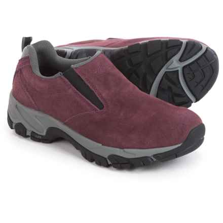 Hi-Tec Altitude Moc Suede Shoes - Slip-Ons (For Women) in Plum - Closeouts
