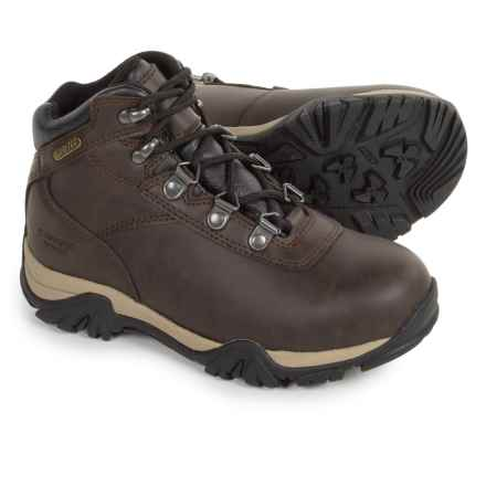 Hi-Tec Altitude V Hiking Boots - Waterproof, Leather (For Little Kids) in Dark Chocolate - Closeouts