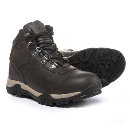 Hi-Tec Altitude V Jr. Hiking Boots - Waterproof, Leather (For Boys) in Dark Chocolate - Closeouts