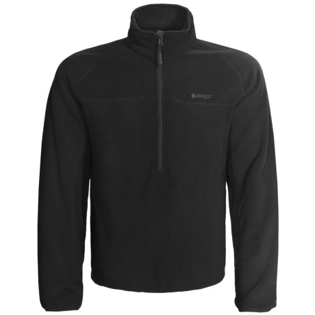 Hi-Tec Antelope Flats Fleece Pullover - Zip Neck (For Men) in Black