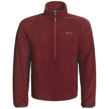 Hi-Tec Antelope Flats Fleece Pullover - Zip Neck (For Men) in Roma/Charcoal - Closeouts