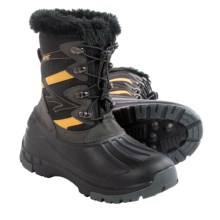 Hi-Tec Avalanche Jr. Winter Pac Boots - Waterproof, Insulated (For Big Boys) in Charcoal/Black/Sunray - Closeouts