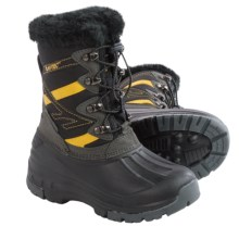 Hi-Tec Avalanche Jr. Winter Pac Boots - Waterproof, Insulated (For Toddlers) in Charcoal/Black/Sunray - Closeouts