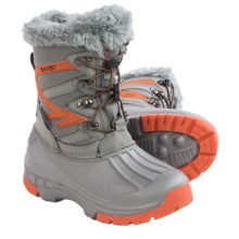 Hi-Tec Avalanche Jr. Winter Pac Boots - Waterproof, Insulated (For Toddlers) in Orange/Grey - Closeouts