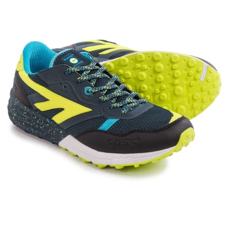 Hi-Tec Badwater Trail Running Shoes (For Men) in Night/Lime/Aqua