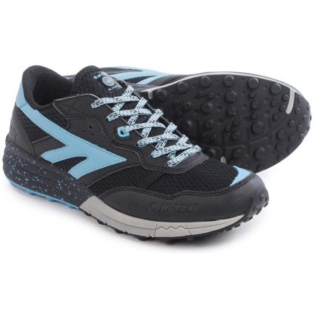 Hi-Tec Badwater Trail Running Shoes (For Women) in Black/Forget Me Not