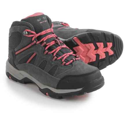 Hi-Tec Bandera II Hiking Boots - Waterproof, Suede (For Women) in Charcoal/Graphite/Blossom - Closeouts