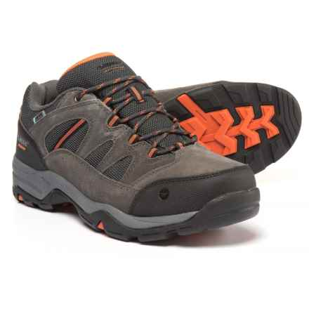 Hi-Tec Bandera II Low Hiking Shoes - Waterproof (For Men) in Charcoal/Graphite/Burnt Orange - Closeouts