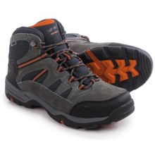 Hi-Tec Bandera II Mid Hiking Boots - Waterproof (For Men) in Charcoal/Graphite/Burnt Orange - Closeouts