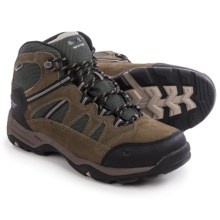 Hi-Tec Bandera II Mid Hiking Boots - Waterproof (For Men) in Smokey Brown/Olive/Snow - Closeouts