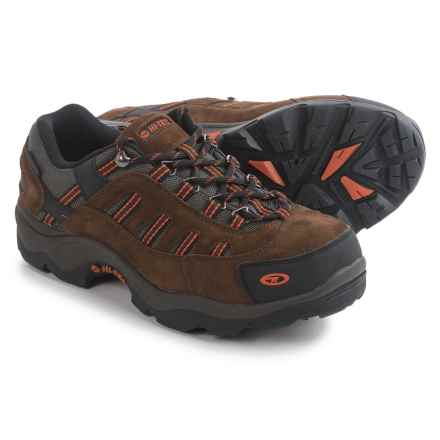 Hi-Tec Bandera Low Hiking Shoes - Waterproof, Suede  (For Men) in Dark Chocolate/Burnt Orange - Closeouts